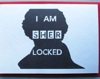 Recycled Hand Made Card Sherlock Inspired Card