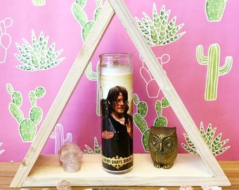 Daryl Dixon // Walking Dead // Pop Culture Prayer Candle