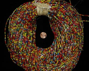 Sale Vintage Czech Bohemian CHRISTMAS Trade Beads African Trade Beads One Strand