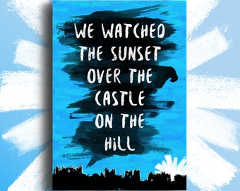 Ed Sheeran - 'Castle On The Hill' A3 Poster