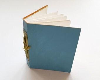Mini journal, journal, hand bound book, binding, pockets, book, mono-print
