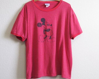 Mickey Mouse Disney tshirt XL Red Micky Mouse Shirt