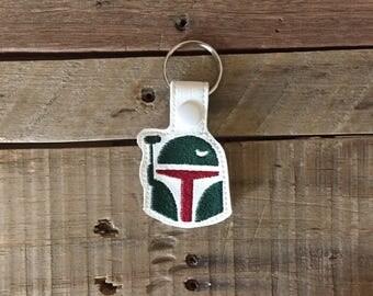 Embroidered Boba Fett Star Wars Key Fob