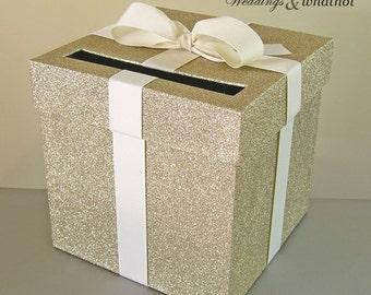 diy wedding card box gold