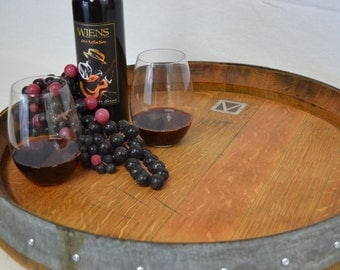 Lazy Susan Wine barrel head