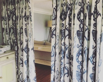 2 Pinch Pleat Custom Curtain Panels. Listing Includes 2 Panels.Any Size. Any Fabric!