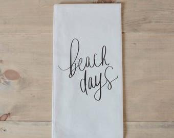 Tea Towel - Beach Days