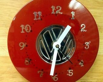 Vintage Volkswagen Hubcap Wall Clock