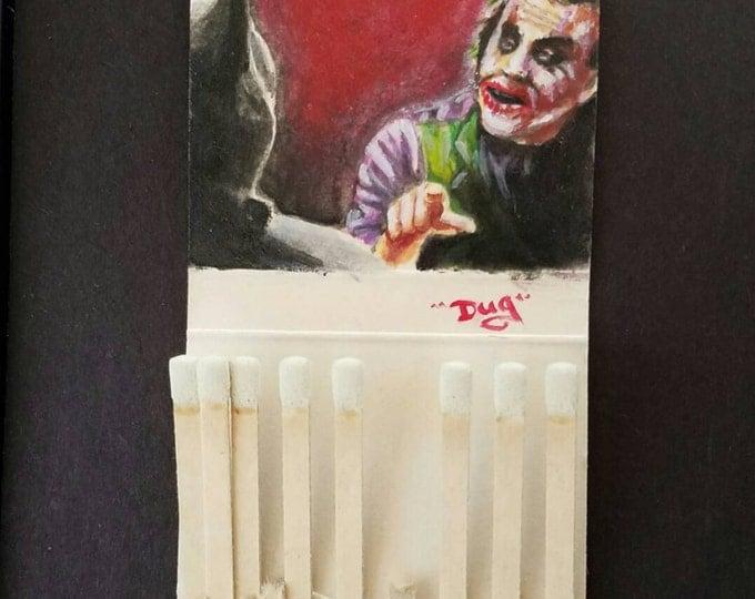 Matchbook painting - the Joker - the Dark Knight