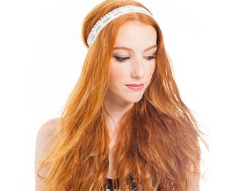 FESTIVAL CAPSULE COLLECTION // Athea Fringe Headband with Pearls and Tassels. festival fashion hair accessories.