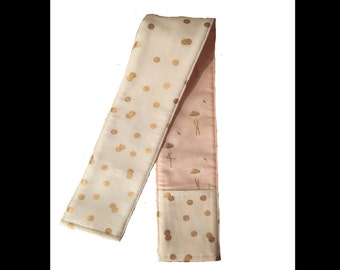 NEW!! peach and gold Camera Strap Cover