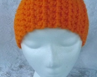 Crochet earwarmer orange ear warmer crochet headband orange crochet head band