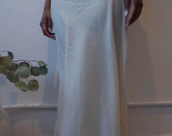 VINTAGE 1910s Edwardian Silk Embroidered Slip Skirt