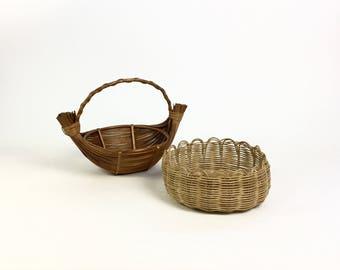 Basket weave nature 70s decor
