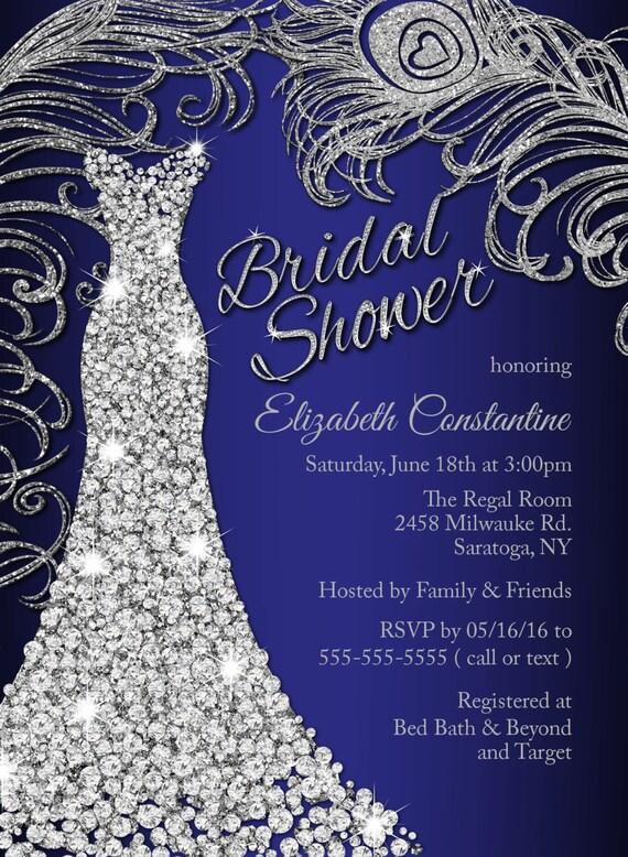 Wedding dress bridal shower invitation wedding shower invitation il570xn filmwisefo