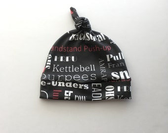 Red WOD Knotted Hat - Ready to Ship - Crossfit Hat