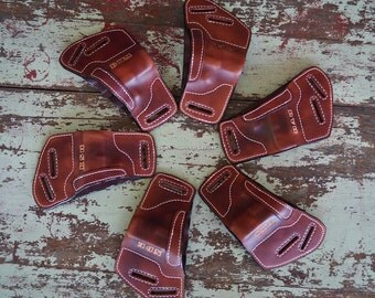 Custom conceal and carry leather holster with name/initals in many color choices