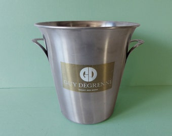 Vintage French Champagne ice bucket Guy Degrenne - Stainless Steel