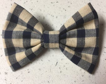 Blue & Tan Bow or Bow Tie