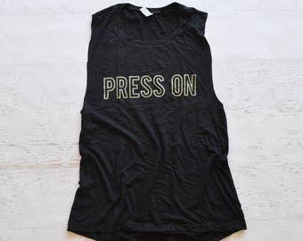 Press On Muscle Tank