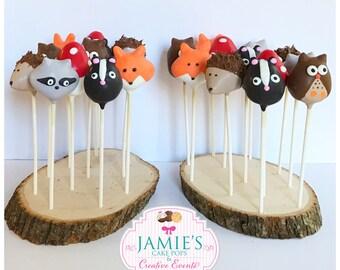 Woodland Animal Cake Pops