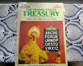Vintage The Sesame Street Treasury Book Volume 1 Featuring Jim Henson's Sesame Street Muppets