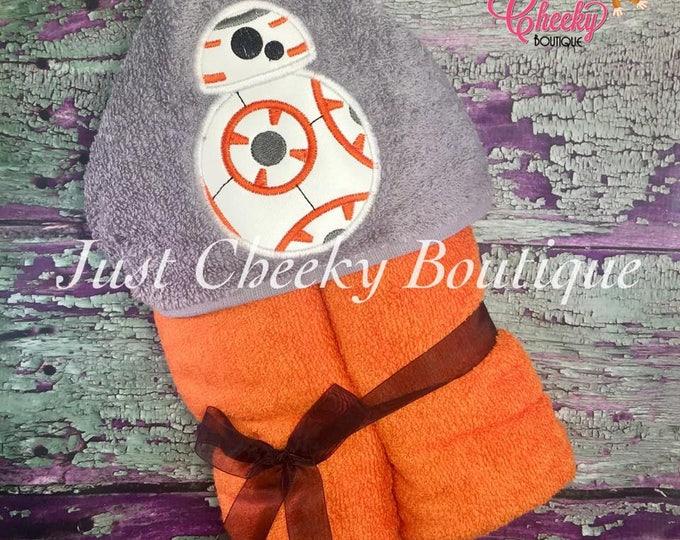 Robot BB Full Body Inspired Hooded Towel - BB8 Robot Droid - Star Wars