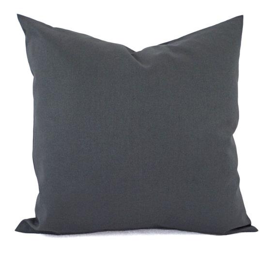 Dark Gray Decorative Pillow : Dark Grey Decorative Pillow Cover Grey by CastawayCoveDecor