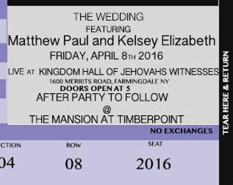 concert ticket invitation printable