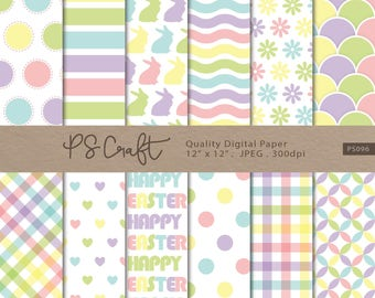 SEAMLESS Easter Digital Papers, Seamless Spring Papers, Easter backgrounds, Digital Scrapbook Paper, Easter digital