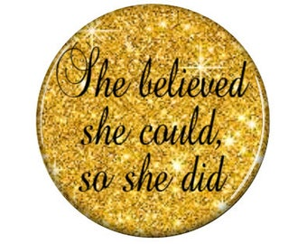 She Believed She Could - Interchangeable Pendant Insert