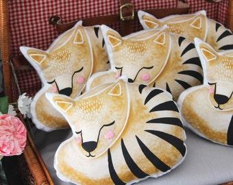 Cute Custom Plush Toy Baby Gift - Tasmanian Thylacine Tiger- Australian Animals Handmade Personalised Toy For Children, Babies, showers