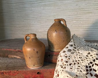 Handcrafted Miniature earthenware clay pottery jug set