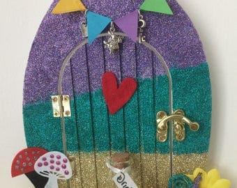 Alice in wonderland style fairy door - fairy door - fairytale door - alice in wonderland door.