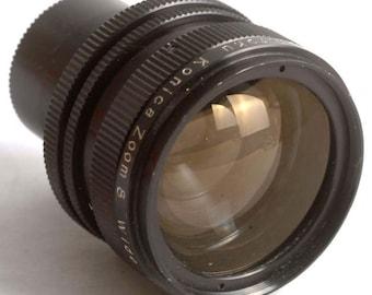 Vintage Konica Zoom Wide Angle Converter 6-16mm for Konica Zoom 8 Cine Movie Camera S1047