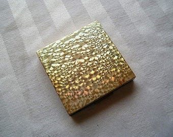 Vintage Compact|Evans Compact|Brushed Gold|1950's|Very Good Vintage Condition|Made in USA