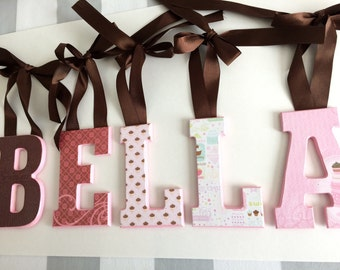 Decorative Wall Letters-cupcake theme-room decor