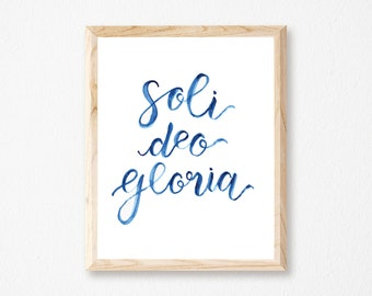 Soli Deo Gloria Watercolor Print