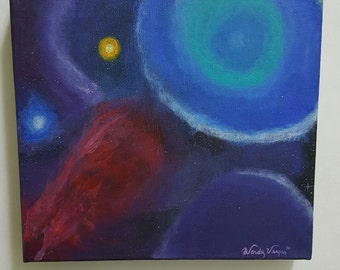 Deep Space- Original outer space acrylic painting
