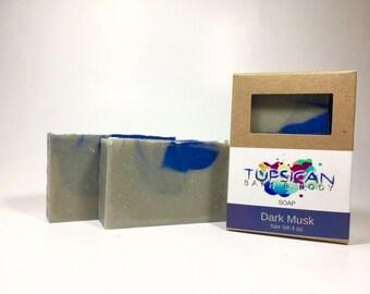 Handmade Dark Musk scented Cold Process Goat Milk Soap