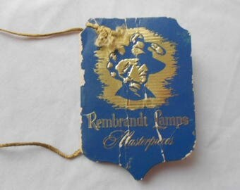 Antique Rembrandt Lamps Tag Booklet
