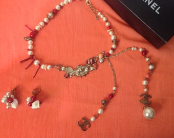SALE- Chanel 2005 Cruise Runway Pearl Necklace and earrings set