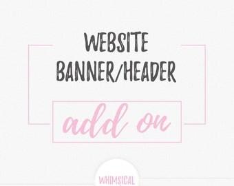 Custom-Made Website Header or Banner  Design