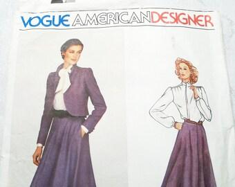 Vogue American Designer Sewing Pattern Don Sayers Size 12 Pattern 2372 CUT 1970s Misses' Jacket, Skirt Blouse Vintage