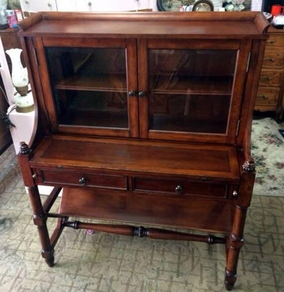 Secretary desk with book shelf