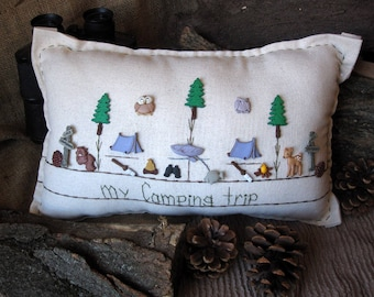 My Camping Trip Pillow (Cottage Style)