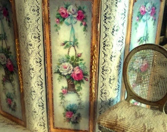 Dollhouse Stunning reversible Wooden dressing/modesty screen in 1:12th scale Made to order