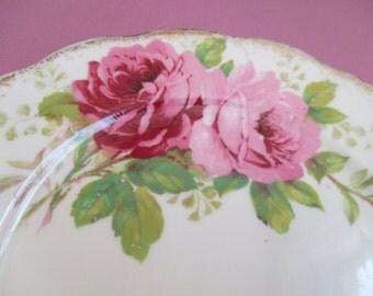 "American Beauty Rose Royal Albert Dessert Plate Tea Plate Cookie Plate 6"" Porcelain Rose Plate Bridal Shower Dessert Plate Wedding Gift"