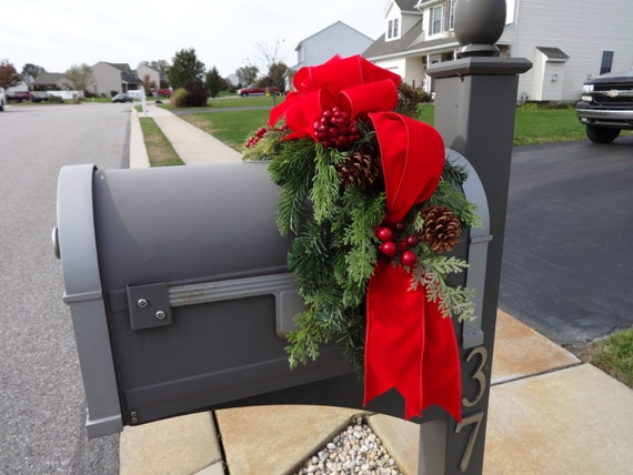 Mailbox Swag Christmas Decoration Outdoor Christmas Outdoor