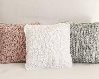 Knitted cushion BohoStyle